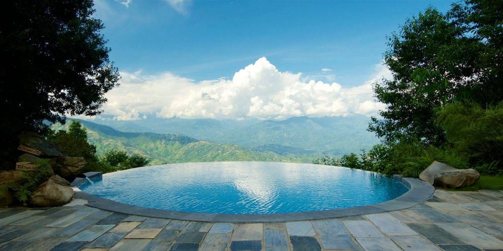 Pool, Dwarika's Resort, Dhulikhel, Nepal Rundreise